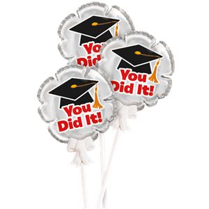 Graduation Self Inflating Mini Foil Balloons 3pk