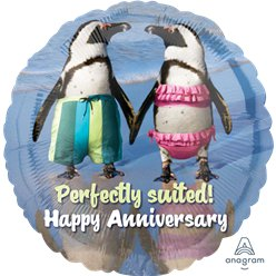 Happy Anniversary Foil Balloon - 18""