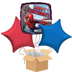 Spiderman Balloon Bouquet - Delivered Inflated