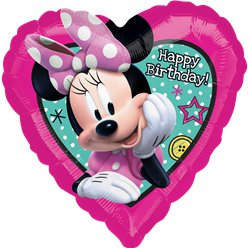 "Minnie Mouse 'Happy Birthday' - 18"" Foil Balloon"
