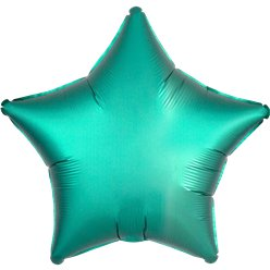 Jade Green Satin Luxe Star Foil Balloon - 18""