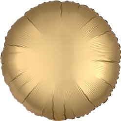 Gold Sateen Satin Luxe Circle Foil Balloon - 18""