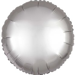 Platinum Satin Luxe Circle Foil Balloon - 18""