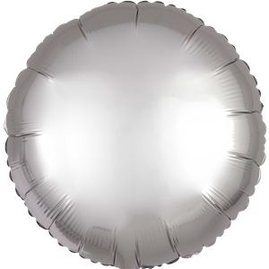 Platinum Satin Luxe Circle Foil Balloon - 18