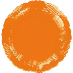 "Orange Round Balloon - 18"" Foil - unpackaged"