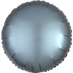 Steel Blue Satin Luxe Circle Foil Balloon - 18""