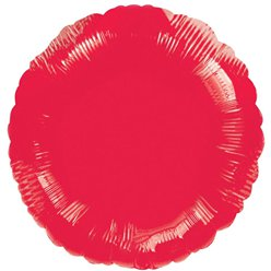 "Metallic Red Round Balloon - 18"" Foil - unpackaged"