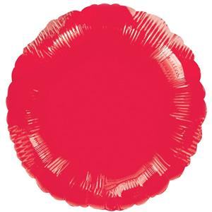 Metallic Red Round Balloon - 18'' Foil - unpackaged