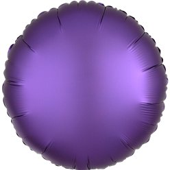 Purple Royale Satin Luxe Circle Foil Balloon - 18""