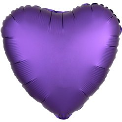Purple Royale Satin Luxe Heart Foil Balloon -18""