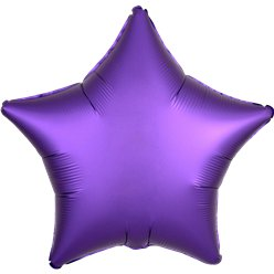 Purple Royale Satin Luxe Star Foil Balloon - 18""