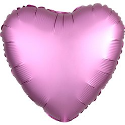 Flamingo Satin Luxe Heart Foil Balloon - 18""