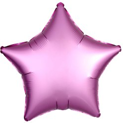 Flamingo Satin Luxe Star Foil Balloon - 18