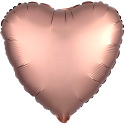 Rose Copper Satin Luxe Heart Foil Balloon - 18 ""