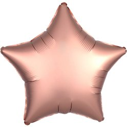 Rose Copper Satin Luxe Star Foil Balloon - 18""