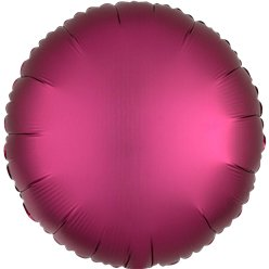 Pomegranate Satin Luxe Circle Foil Balloon - 18""