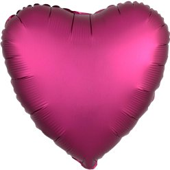 Pomegranate Satin Luxe Heart Foil Balloon - 18""