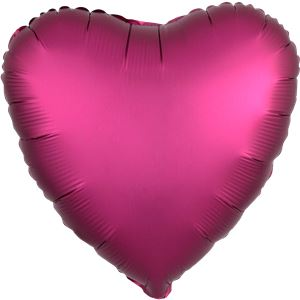 Pomegranate Satin Luxe Heart Foil Balloon - 18