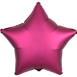 Pomegranate Satin Luxe Star Foil Balloon - 18""