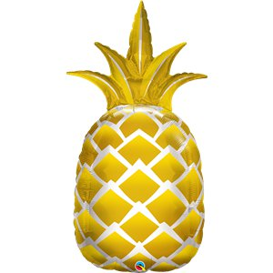 Golden Pineapple Foil Balloon - 44