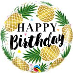 "Birthday Golden Pineapples Foil Balloon - 18"" Balloon"