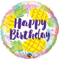 Happy Birthday Pineapples Foil Balloon - 18