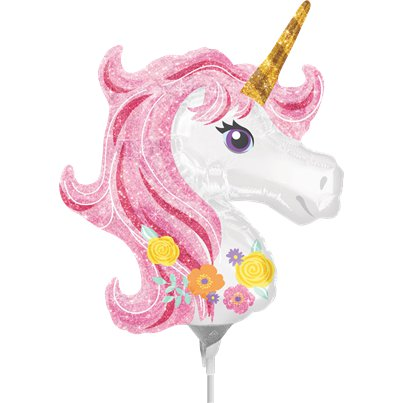"Magical Unicorn Mini Balloon - 9"" Airfilled"