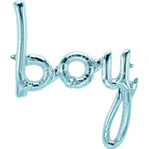 Pastel Blue Baby Boy Phrase Balloon - 27
