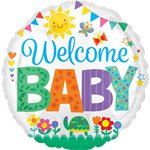 "Welcome Baby Cute Balloon - 18"" Foil"