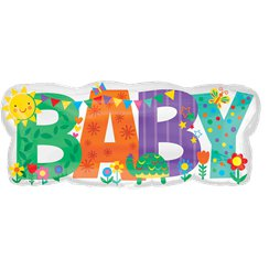 "Cute Baby Banner Balloon - 33"" Foil"