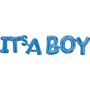 Its A Boy Blue Foil Phrase Balloon - 40