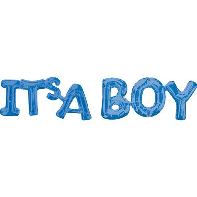 "Its A Boy Blue Foil Phrase Balloon - 40"" Foil"