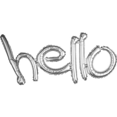 Hello Silver Freestyle Phrase Balloon - 33
