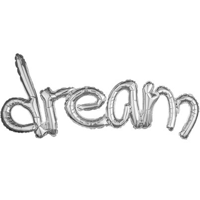 Dream Silver Freestyle Phrase Balloon - 37