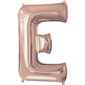 Rose Gold Letter E Air Filled Balloon - 16