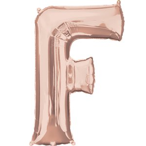 Rose Gold Letter F Air Filled Balloon - 16
