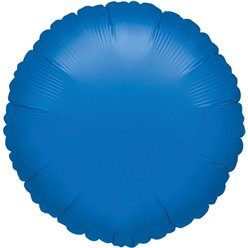 "Blue Round Balloon - 18"" Foil - unpackaged"