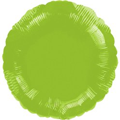 "Lime Green Round Balloon - 18"" Foil - unpackaged"