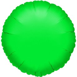 "Green Round Balloon - 18"" Foil"