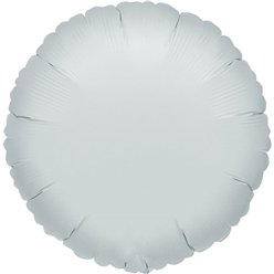 "Silver Round Balloon - 18"" Foil - unpackaged"