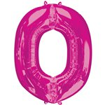 "Pink Letter O Air Filled Balloon - 16"" Foil"
