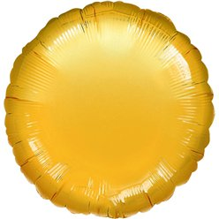 "Gold Round Balloon - 18"" Foil - unpackaged"