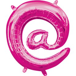 "Pink  Sign Air Filled Balloon - 16"" Foil"