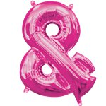 "Pink & Shaped Air Filled Balloon - 16"" Foil"