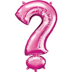 "Pink ? Shaped Air Filled Balloon - 16"" Foil"