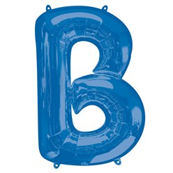 "Blue Letter B Air Filled Balloon - 16"" Foil"