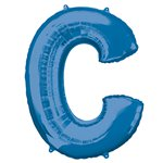 "Blue Letter C Air Filled Balloon - 16"" Foil"