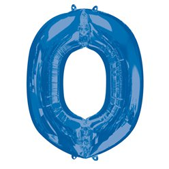 "Blue Letter O Air Filled Balloon - 16"" Foil"