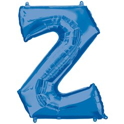 "Blue Letter Z Air Filled Balloon - 16"" Foil"