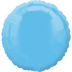 "Pale Blue Round Balloon - 18"" Foil"